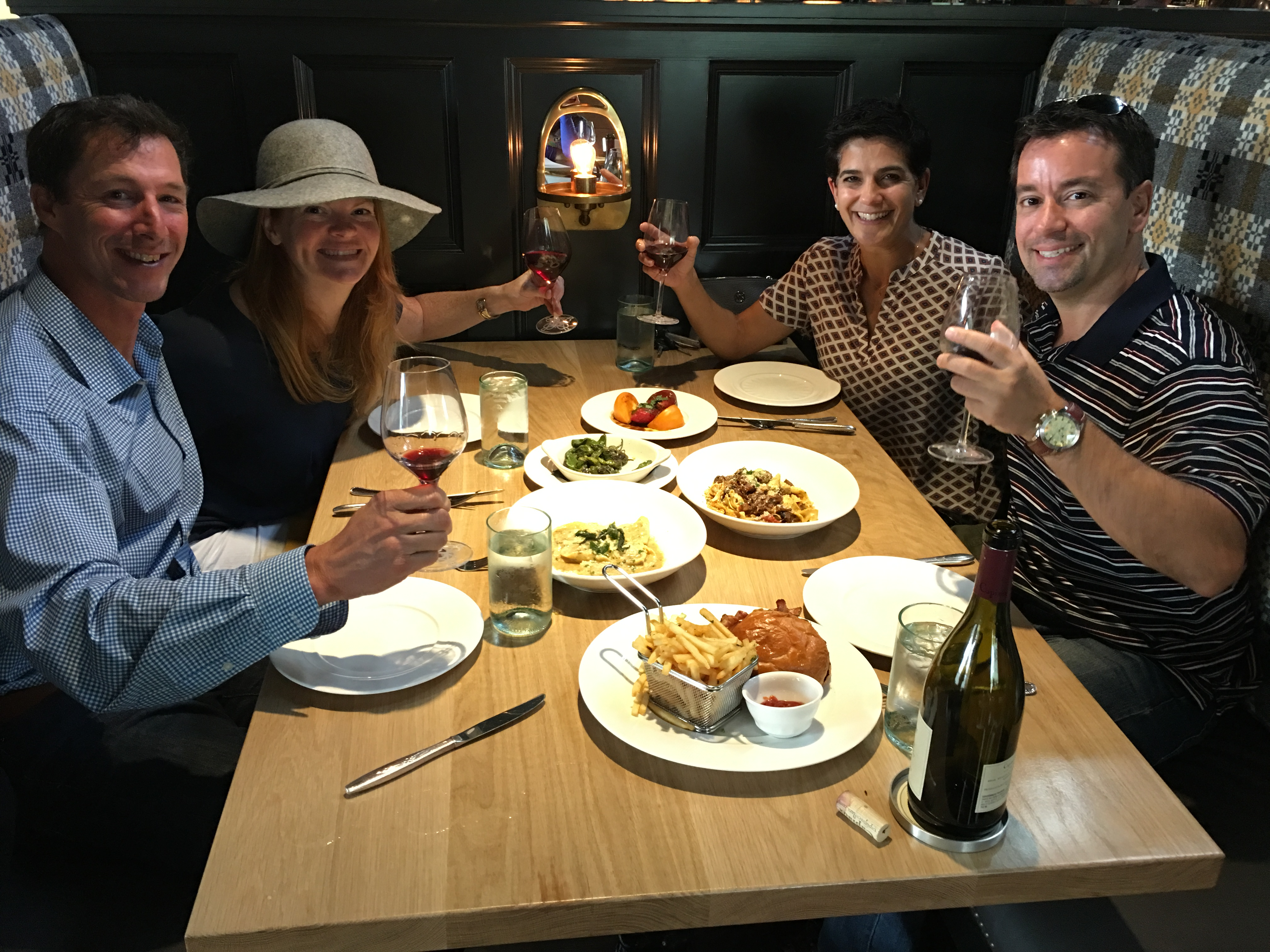 Cheers to great food and friends!