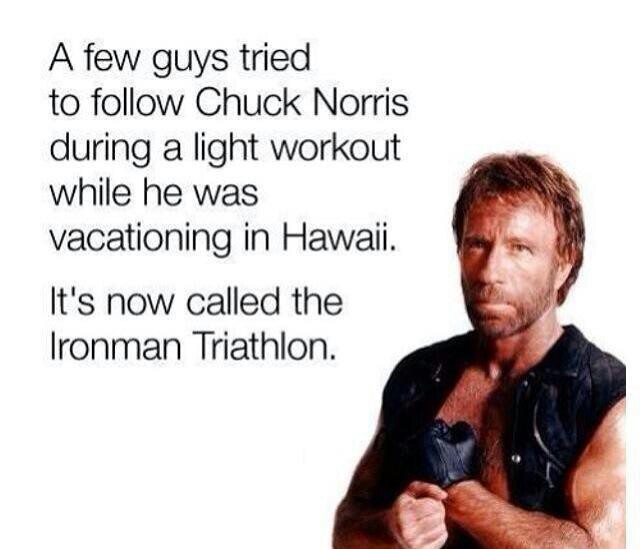 Chuck Norris doesn't need a list.