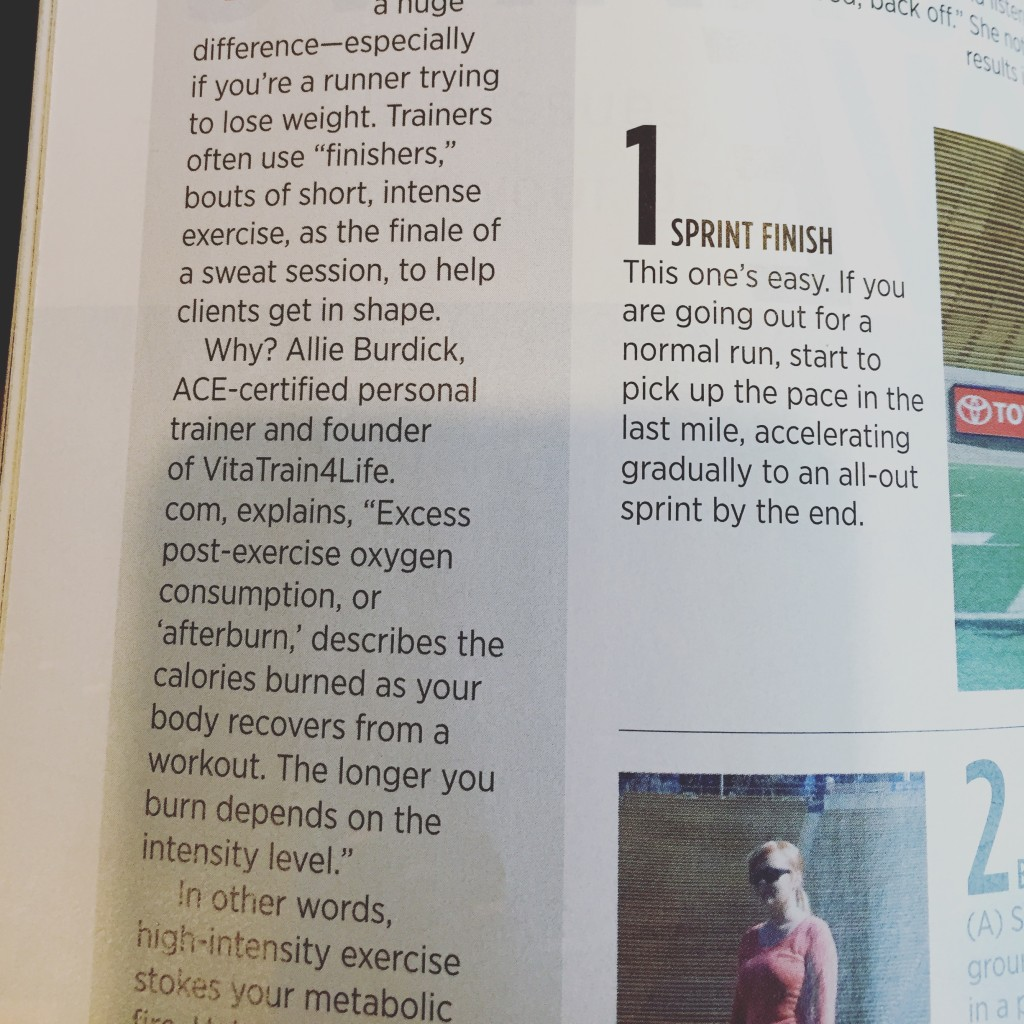 I was interviewed as an expert for an article on after burn. Winter 2016